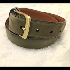 "Coach Olive Green Genuine Leather Belt-30"""